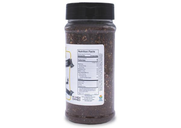 datil cowboy coffee rub nutrition panel