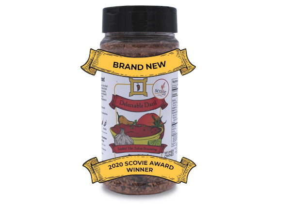 delectable datil smokin hot salsa seasoning with ribbons