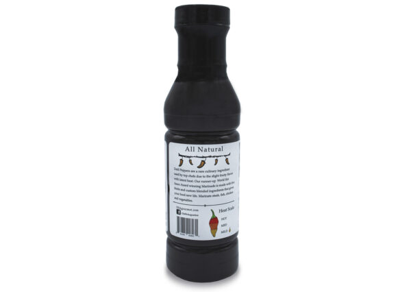 fountain of youth datil pepper marinade 12 oz side panel
