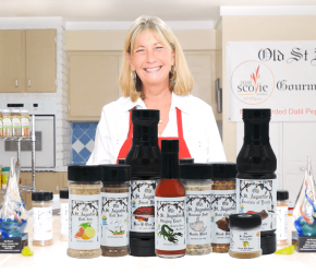 Angela Bean the Datil Pepper Lady with Old St Augustine Gourmet Datil Pepper Productss