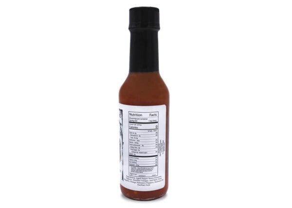snake bite datil pepper hot sauce nutrition panel