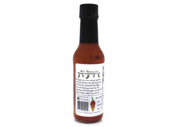 snake bite datil pepper hot sauce side panel