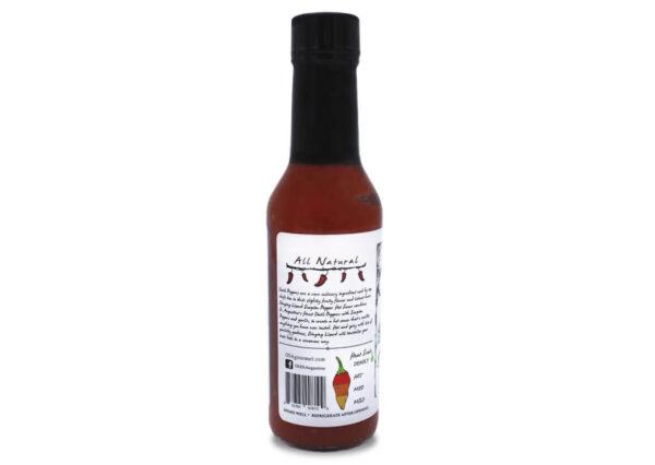 stinging lizard scorpion pepper hot sauce side panel