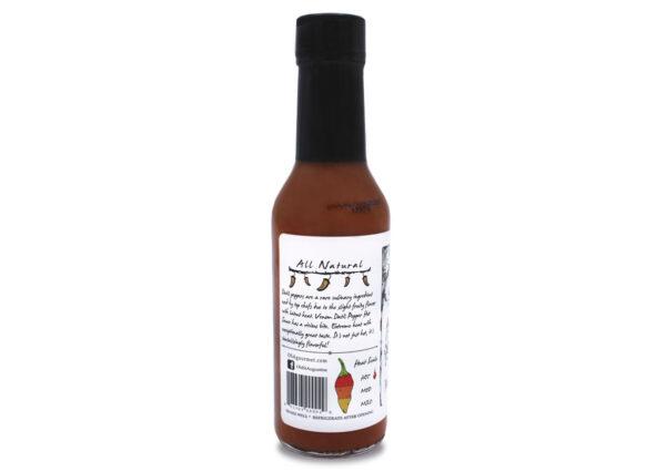 venom datil pepper hot sauce 5 oz side panel