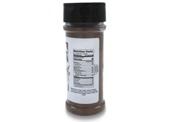 datil jerk jamaican seasoning 3 oz nutrition panel