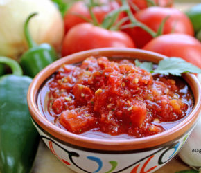 delectable datil salsa surrounded by fresh ingredients