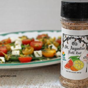 asparagus tomato and mozzarella salad with osa gourmet datil zest
